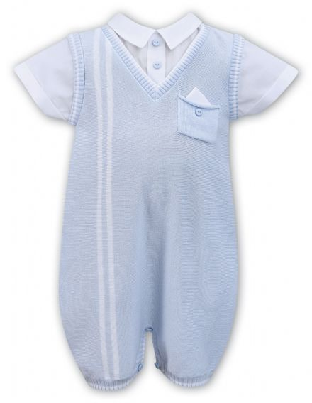 Boys Shortie Knitted Romper